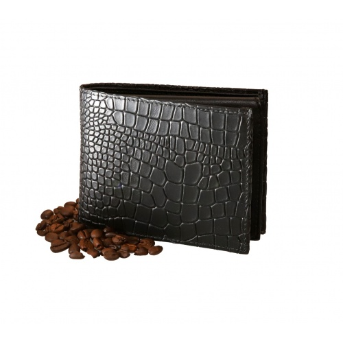 Croco Printed Natural Leather Wallet