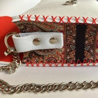 Handmade Leather Bag With Traditional Print Details