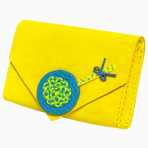 Handmade Lemon Yellow Leather Lollypopbag Carmenittta
