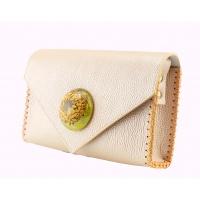 Callistephus Resin And Natural Leather Handmade Bag By Carmenittta
