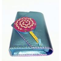 Handmade Metallic Light Blue Leather Lollypopbag Carmenittta