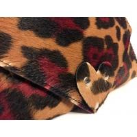 Red Brown Cavallino Leather Handmade Bag