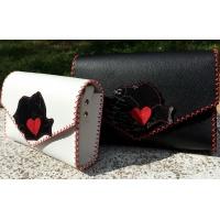 Romania Map Shape Suede Leather On Black Leather Handmade Bag By Carmenittta