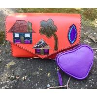 Lavender Purple Heart Little Wallet