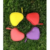 Yellow Leather Heart Little Wallet