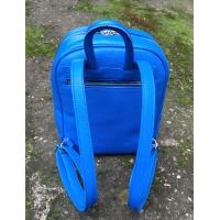 Handmade Leather Owl on Blue Leather Backpack Carmenittta